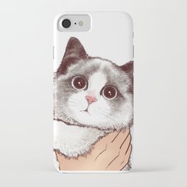 Cat : Don't kiss iPhone Case