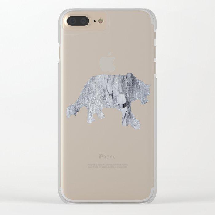 Iced Asphalt Clear iPhone Case