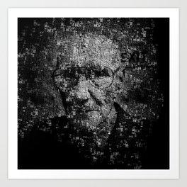 William S. Burroughs Typographical Portrait Art Print