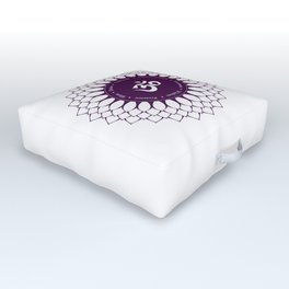 Crown Chakra #48w Outdoor Floor Cushion