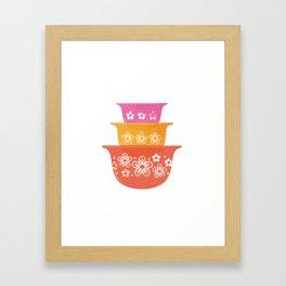 Vintage Mixing Bowls Framed Art Print