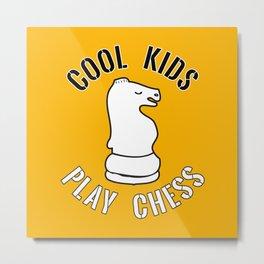 Cool Kids Play Chess Knight Piece - Cool Chess Club Gift Metal Print