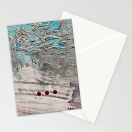 Wait // acrylic abstract texture modern painting Stationery Cards