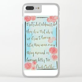 """""""the Soul of the World"""" Clear iPhone Case"""