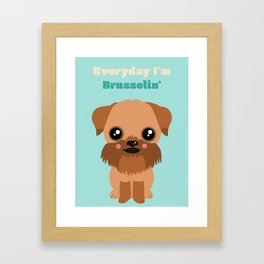 Brussels Griffon Framed Art Print