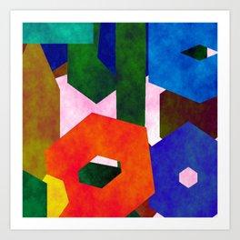 Retro Artistic Pattern Art Print