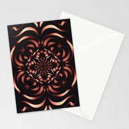 Intense Passion Fiery Mandala - Flower on Fire - Free Spirit Stationery Cards