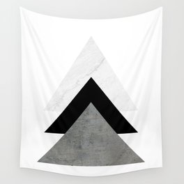 Arrows Monochrome Collage Wall Tapestry