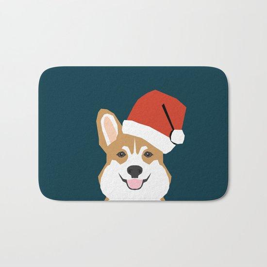 Corgi Christmas  santa claus costume for cute welsh corgi pet dog lover gift for the corgi person Bath Mat