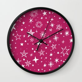 Multiple shapes and sizes stars VI Wall Clock
