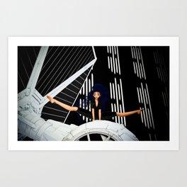 Tie Girl Art Print