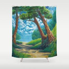 Sunny way Shower Curtain