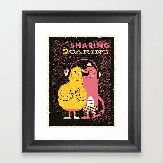 Sharing Framed Art Print