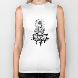 Buddha in lotus position Biker Tank