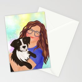 Dog Girl Stationery Cards
