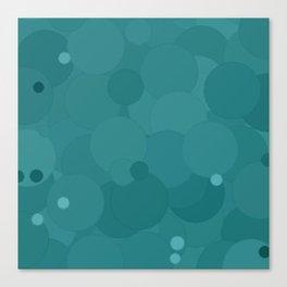 Teal Bubble Dot Color Accent Canvas Print