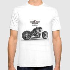 Dale Earnhardt Harley White Mens Fitted Tee MEDIUM