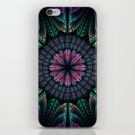 Magical dream flower, fractal abstract iPhone Skin