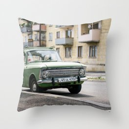 Green Lada in Armenia Throw Pillow