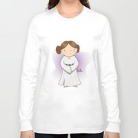 leia Long Sleeve T-shirts featuring Leia by Lalu