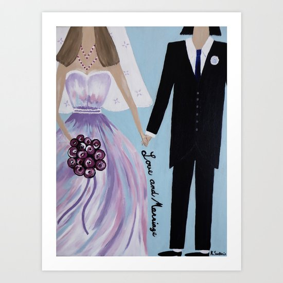 Love And Marriage Art Print
