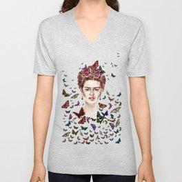 Frida Kahlo - Mexico Unisex V-Neck