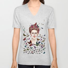 Frida Kahlo - Mexico Unisex V-Neck