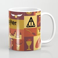 harry potter Mugs featuring Potter by Polvo