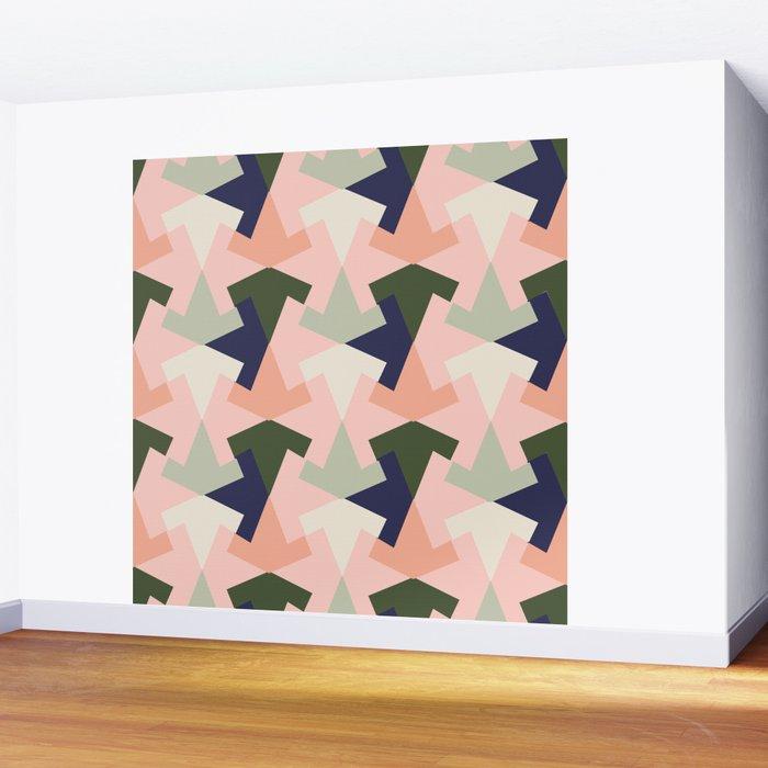 Retro pattern geometric Wall Mural