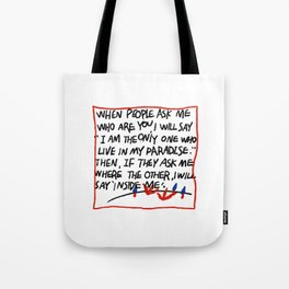 Ugly hand writing by artist ozo Tote Bag