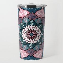 Mandala Pink and Green Travel Mug