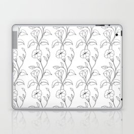 Floral Drawing in black and white Laptop & iPad Skin