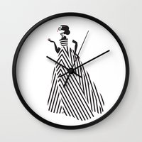 dress Wall Clocks featuring Dress by Yordanka Poleganova