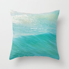 Beach photograph. Hermosa Beach. Lull Throw Pillow