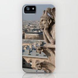 Gargoyle staring at Paris iPhone Case