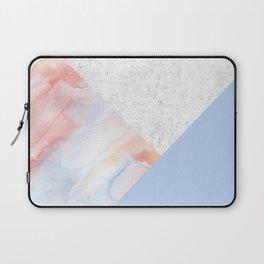 Blue Pink Watercolors Laptop Sleeve