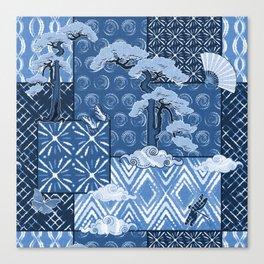 Shibori Quilt Canvas Print