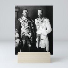 Tsar Nicholas II and King George V - Royal Cousins - 1913 Mini Art Print