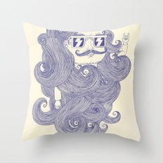 F*ck the barbers Throw Pillow