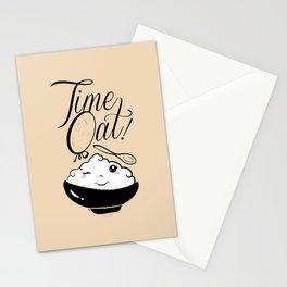 Time Oat - Funny Kawaii Oatmeal Stationery Cards