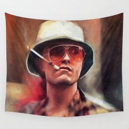 Hunter S. Thompson Smokes A Cigarette - Fear And Loathing In Las Vegas Wall Tapestry