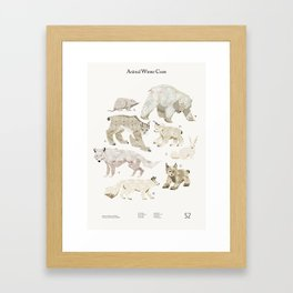 Shelter 2 - Animal Winter Coats Framed Art Print