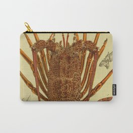 Vintage Lobster Anatomy Diagram (1890) Carry-All Pouch