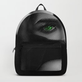Black and white painting - Woman in Veil - Jeanpaul Ferro Backpack
