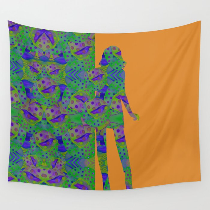 """Be yourself (Pop Fantasy Colorful Woman)"" Wall Tapestry"