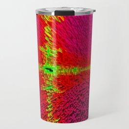 Abstract 3d block Travel Mug