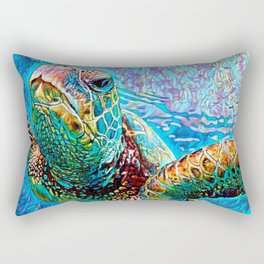 Gliding Through Colors Rectangular Pillow