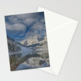 Maroon Bells Reflection In The Maroon Lake With Fresh Snow Aspen Colorado Usa for #society6 Stationery Cards