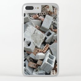 Bricks and Blocks Demolition Rubble Debris Clear iPhone Case