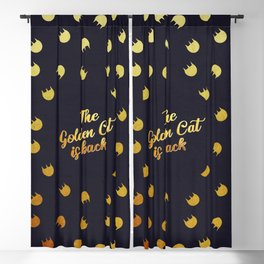 The golden cat is back Blackout Curtain
